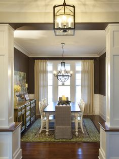 Love the light fixtures and sideboard. houzz.com