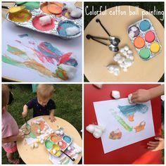 cotton ball, parti 662014, art parti, paper, activ, messi art