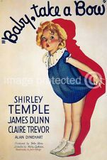 Baby Take a Bow Vintage Shirley Temple Movie 11x17 Poster