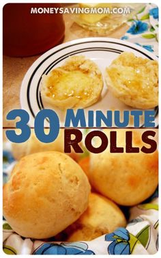 Looking for a quick & easy roll recipe? You've got to try these 30 Minute Rolls! It's SUCH an easy recipe and they are practical fail-proof! 30 minute rolls, easi roll, quick dinner roll recipe, quick easy dinner rolls, quick bread rolls, quick rolls recipe, bread recipes quick easy, quick dinner rolls recipe, minut roll