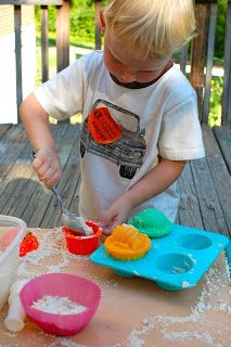 How to Make Cloud Dough - your kids will love this!