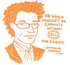 Jacqueline Woodson at the National Book Awards, 11/19/14 Comic by Kate Gavino: http://lastnightsreading.tumblr.com/post/103121583530/jacqueline-woodson-at-the-national-book-awards