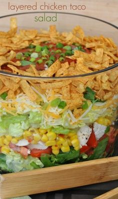 Layered Chicken Taco Salad