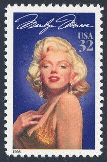 Marilyn Monroe - Single Stamp 1st in Legends of Hollywood Series United States, 1995