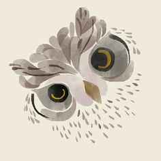 Watercolour owl, the artist is Oktarina Lukitasari. Her Tumblr is linked to the picture.