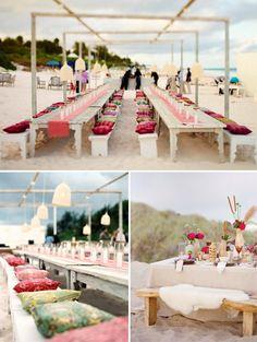 Colorful beach wedding #wedding #beach #colors #event #decor #party