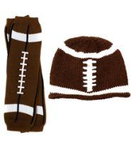 Football Hat & Leg Warmers set for baby boy or girl by My Little Legs