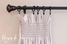 DIY Smocked Drop Cloth Curtains
