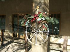 Image detail for -... Western Christmas Wreath, Western Christmas Decor, Professional