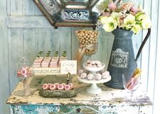 #French #farmhouse #dessert table