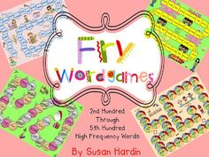 3rd Grade Grapevine - Fun RTI or just liven up your reading groups.  Use these games to teach your kiddos their sight words.
