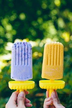 #Vegan #GlutenFree Smashed Blueberry Pops & Mango Creamsicles | Vegan Miam