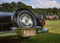 A 1956 Thunderbird Convertible at Maryland Polo Club match in Monkton, Maryland.  Photo by Kevin Moore Photography.