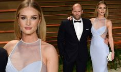 Rosie Huntington-Whiteley pearl adorned gown