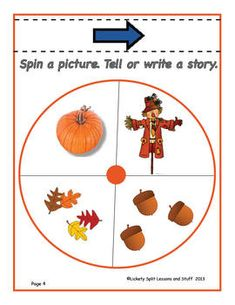 FREEBIE *** PUMPKIN Power: It's all about building literacy skills.  Includes a 6-page Emergent Reader,  Spin a picture, tell or write a story, make lists,  play a fall game.  Unit adapts easily to hands-on activities and different ages.  FREE