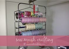 Great ideas for creating an organized closet for your crafting supplies. :) Sew Much Crafting: My Crafting Closet