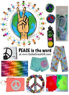 This Saturday, 21 Sept 2013, is World Peace Day. Shop www.GottaGreatGift.com for Everything Peace! because peace never goes out of style. Always great gifts for anyone for any occasion!