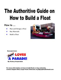 building floats for parades
