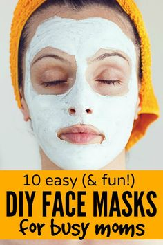 Too busy to go to the salon but desperate for ideas on how to shower yourself with a little TLC with your girlfriends every once in a while? No problem! This list of 10 easy (& fun!) DIY face masks for busy moms is JUST what you need!