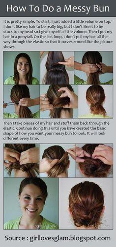 #How To Do a Messy Bun  women fashion #2dayslook #new #springfashion  www.2dayslook.com
