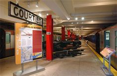 We  LOVE the NY Transit Museum. A great museums for kids to explore in Brooklyn. Cool spot for birthday parties too!