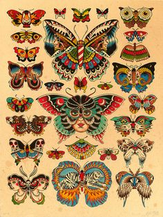 (kyler martz) RP: Excellent refreshment of the tired butterfly tattoo motif.