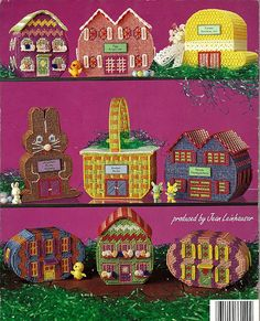 Easter Egg Village Plastic Canvas Pattern by grammysyarngarden, $5.50