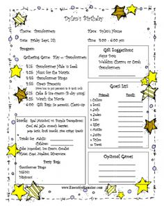Transformer Party Planner - Tip Junkie