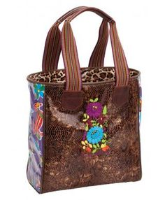 Brown Snakeskin Tote from Consuela! @Spunky Junkie