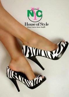 zebra heels..