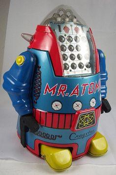 """""""Mr. Atomic""""  vintage toy robot"""