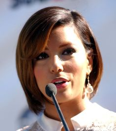 Eva Longoria bob haircut for her oval face - Appropriate Haircut with The Shape of Face