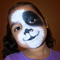 dog park, kid activities, face paintings, puppy face, black white, makeup ideas, dog face painting, kids facepainting, puppi