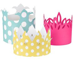 paper crowns to decorate. So much fun for girls! And the boys would enjoy making one too.
