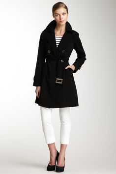 classic double-breasted belted trench