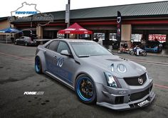 Richard Caleel's highly-modified Cadillac prepped wide-body CTS-V sedan
