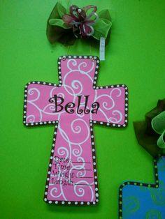 Baby Announcement Cross Door Hanger