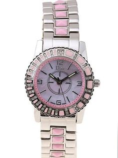 A pink Dior watch with diamonds... Yes, please!