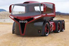 cool semi trucks, car garag, custom semi, futurist semi, outrag ride, futurist truck, crazi semi, truck design, iveco truck