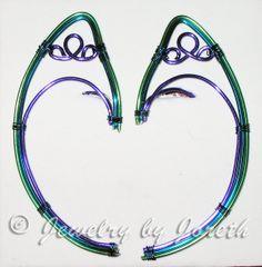 Peacock Elf Ears by InnBetween on Etsy, $30.00