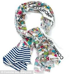 Comme des Garcons Where's Wally scarf