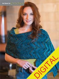 Taos Wrap Digital Crochet Pattern - from the Fall 2014 Issue of Love of Crochet magazine