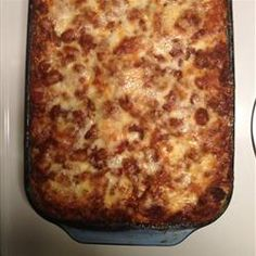 American Lasagna | The trick to this 5-star lasagna is to make it a day ahead. Refrigerating the casserole overnight allows the flavors to meld wonderfully.