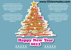 Happy New Year 2013 spiral Christmas tree with many colorful lines and big star on top. Great Happy New Year 2013 spiral Christmas tree as Premium vector graphic in Adobe Illustrator