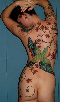 Can't do this but....Hummingbird back piece