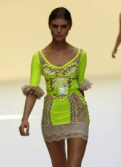 Chartreuse mini is on point with neon fashion trends for the summer
