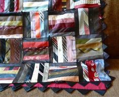 Neck tie quilt.  For all those old neckties no one wears anymore!