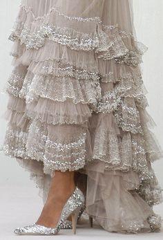 lace, fashion, chanel, sparkl, style, ruffl, cloth, dress, pretti