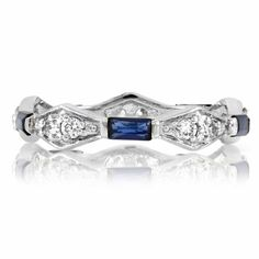 Sapphire Antique Style Eternity Ring