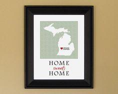 Grand Rapids, Michigan - Home Sweet Home wall decor